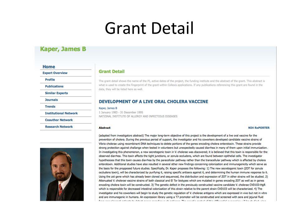 Grant Detail