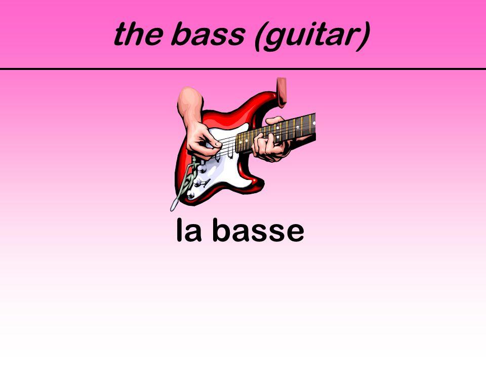 the bass (guitar) la basse