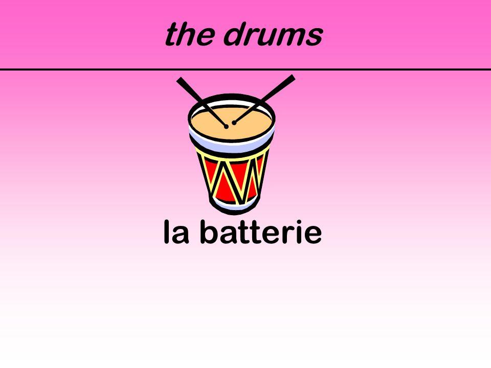 the drums la batterie