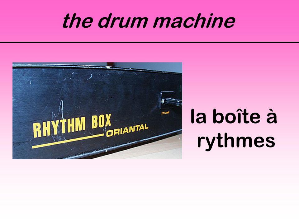 the drum machine la boîte à rythmes