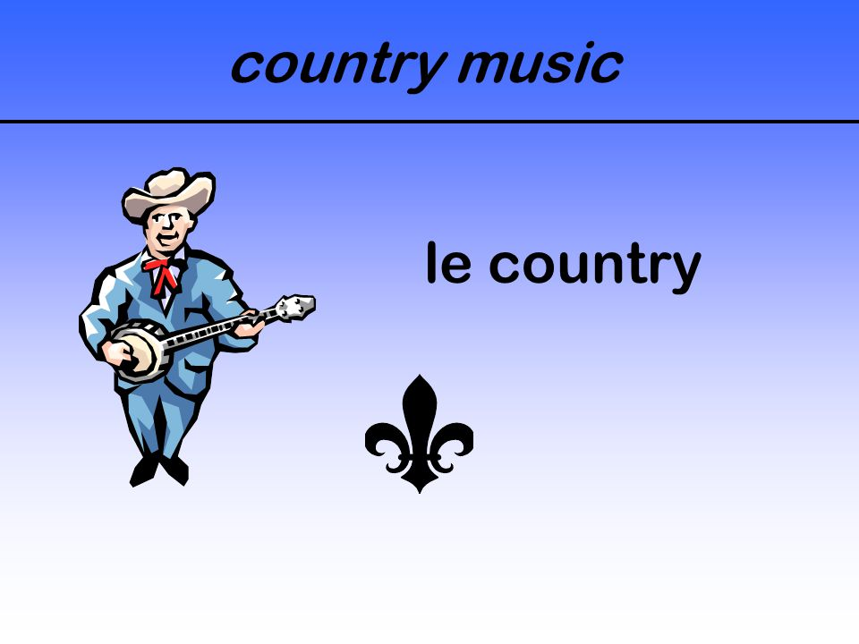 country music le country