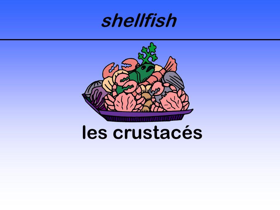 shellfish les crustacés