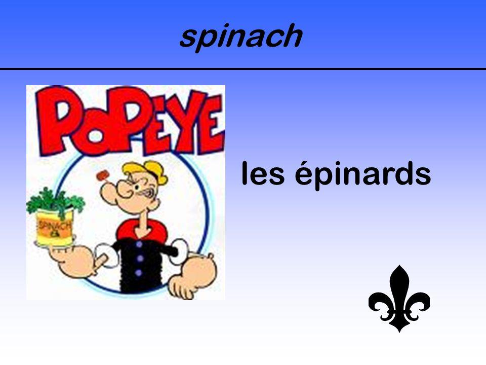 spinach les épinards