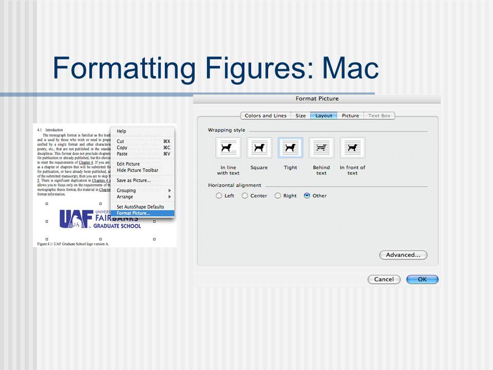 Formatting Figures: Mac