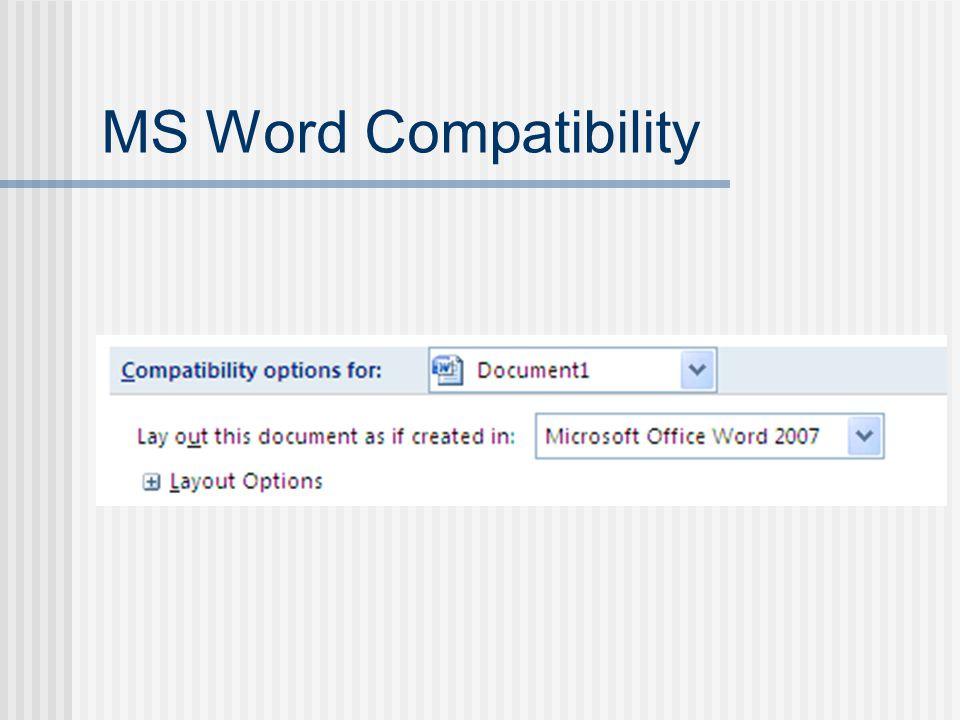 Header/Footer: Windows MS Word 2007