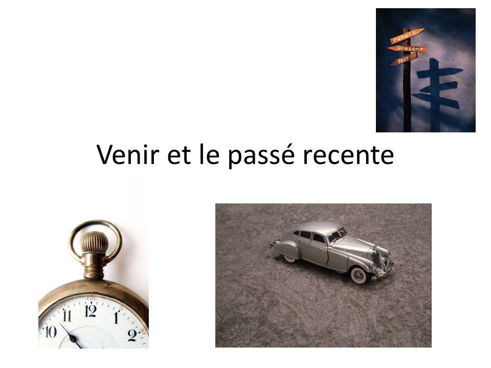 Venir Venir= irregular verb Venir- to come Je viensnous venons Tu viensvous venez Il, elle, on vientils, elles viennent Ex.