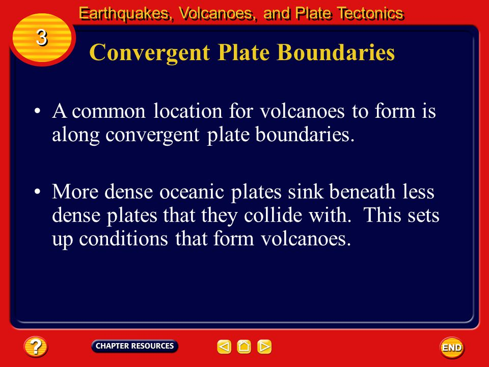 Divergent Plate Boundaries Tectonic plates move apart at divergent plate boundaries. Earthquakes, Volcanoes, and Plate Tectonics 3 3 As the plates sep