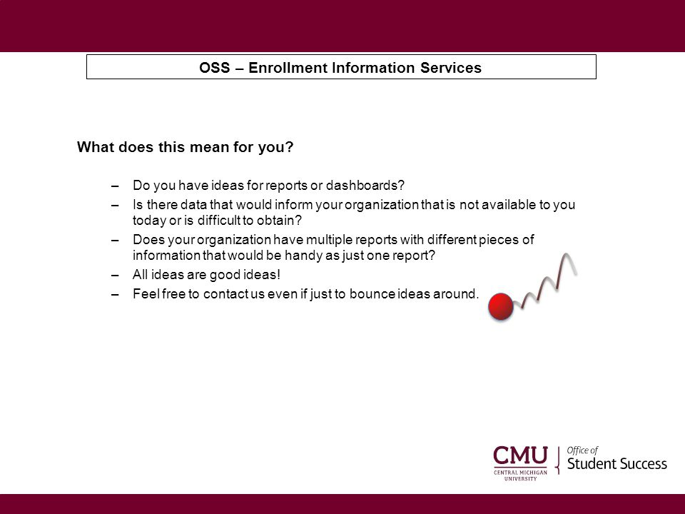 OSS – Enrollment Information Services Please feel free to contact me anytime.