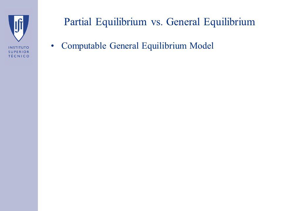 Partial Equilibrium vs. General Equilibrium Computable General Equilibrium Model