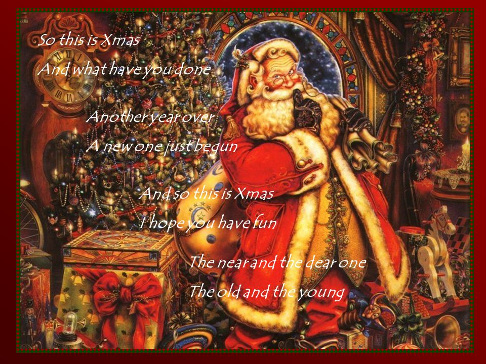 Celine Dion.. Turn your speaker on (Enjoy ! ) And so this is Xmas