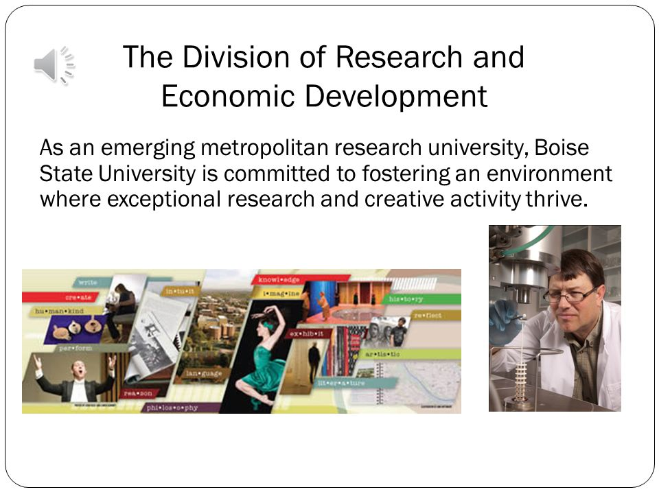The Division of Research and Economic Development Welcome New Faculty.