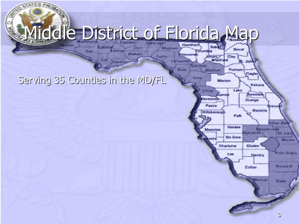 3 Middle District of Florida Map Middle District of Florida Map Serving 35 Counties in the MD/FL