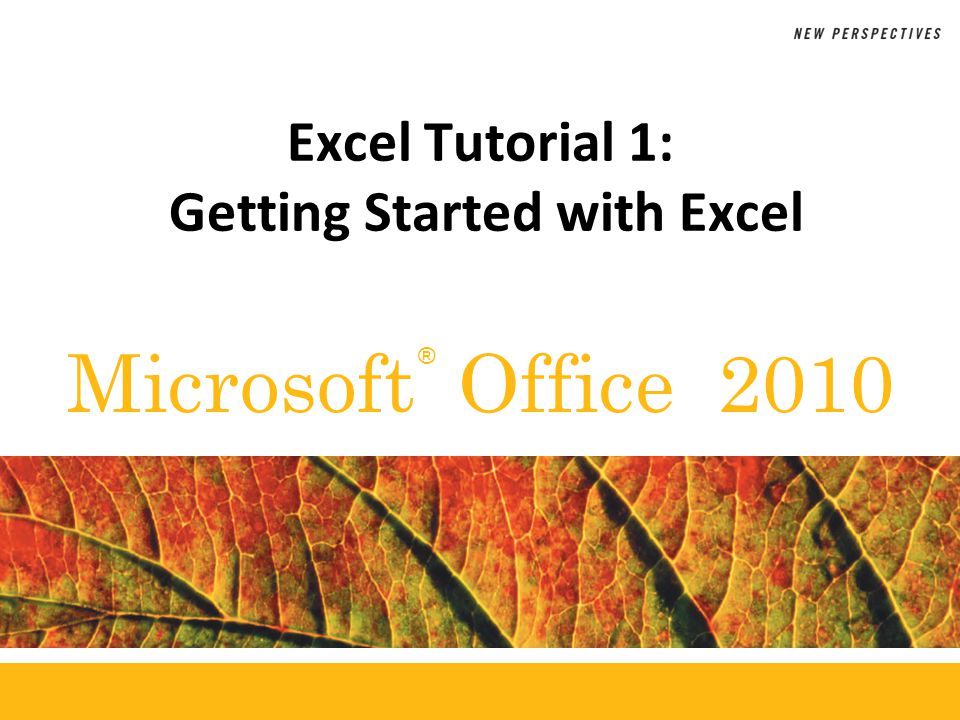 XP Objectives Understand the use of spreadsheets and Excel Learn the parts of the Excel window Scroll through a worksheet and navigate between worksheets Create and save a workbook file Enter text, numbers, and dates into a worksheet Resize, insert, and remove columns and rows New Perspectives on Microsoft Office 201022