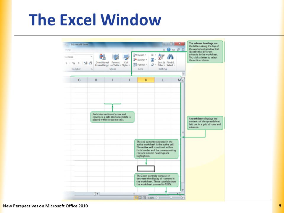 XP Introducing Microsoft Excel 2010 Computer program used to enter, store, analyze, and present quantitative data Creates electronic versions of spreadsheets – Collection of text and numbers laid out in a grid Displays values calculated from data Allows what-if analysis – Ability to change values in a spreadsheet and assess the effect they have on calculated values New Perspectives on Microsoft Office 20106