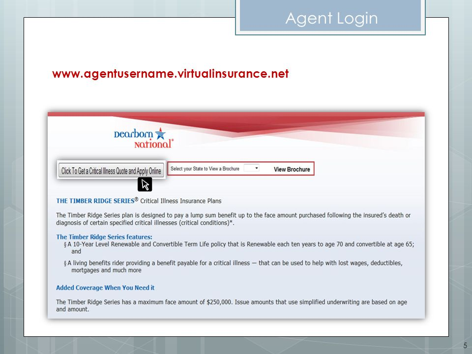On-line Application Sample of Client Application Signed while present with Agent Agent MUST click to go to back office to provide agent signature & upload app.