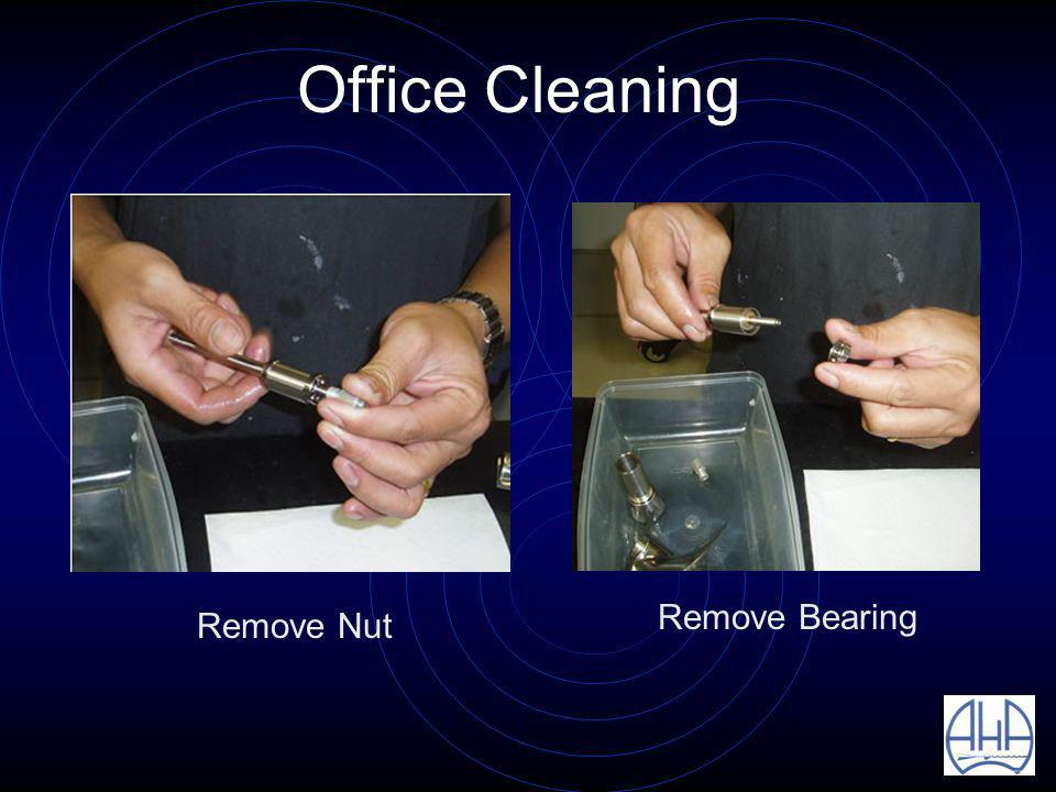 Office Cleaning Remove Nut Remove Bearing