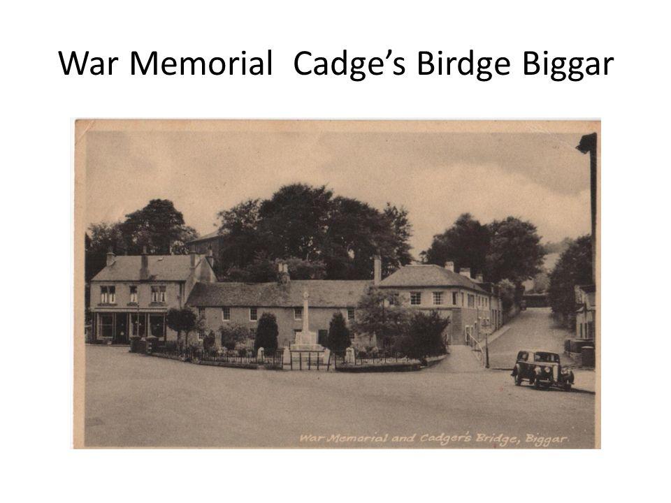 War Memorial Cadges Birdge Biggar