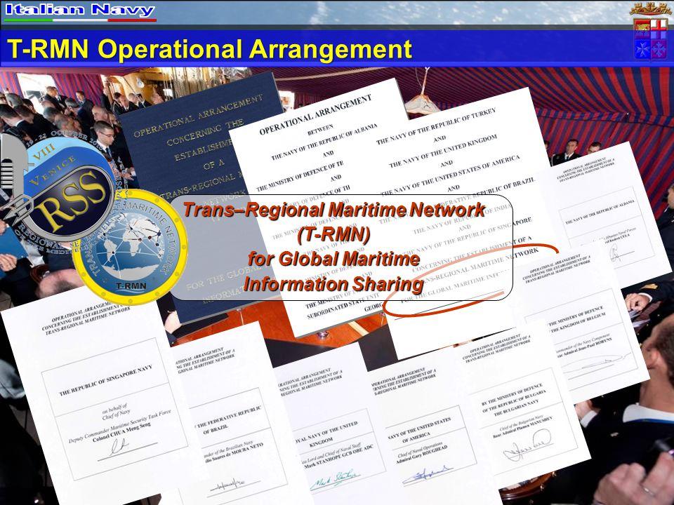 Trans–Regional Maritime Network (T-RMN) for Global Maritime Information Sharing T-RMN Operational Arrangement