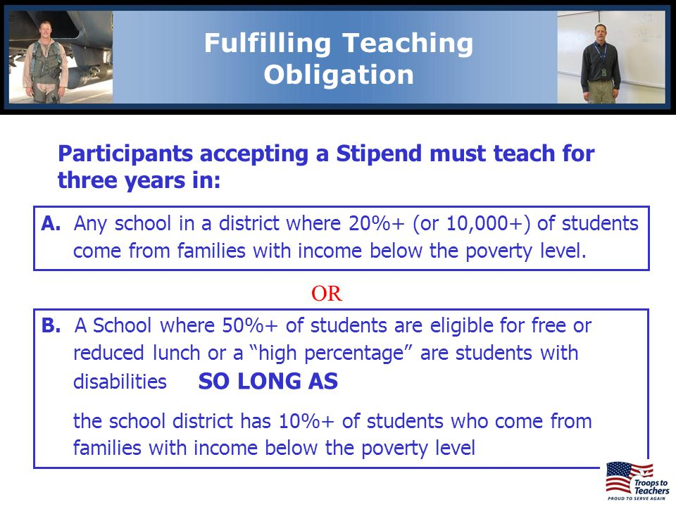 Lewis and Clark Region Fulfilling Teaching Obligation Participants accepting a Stipend must teach for three years in: A.