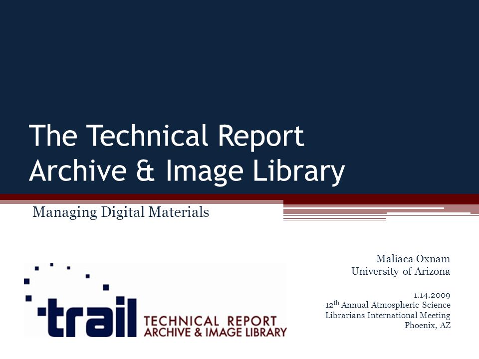 Nature and Scope of Collections Federal technical reports literature spans a wide range of technical and scientific topics These reports contain important information that is poorly indexed and often difficult to obtain The project focused on pre-1975 reports to avoid copyright issues