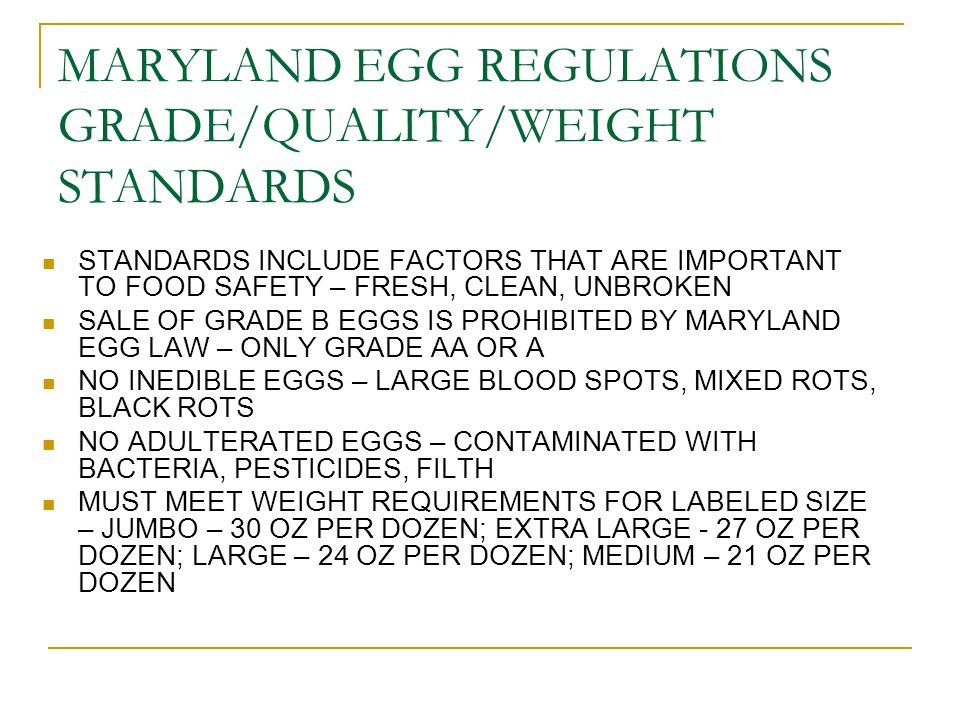 MDA REGULATIONS EGGS, POULTRY AND MEAT, ORGANIC QUESTIONS: Deanna Baldwin 410-841-5769 baldwidl@mda.state.md.us