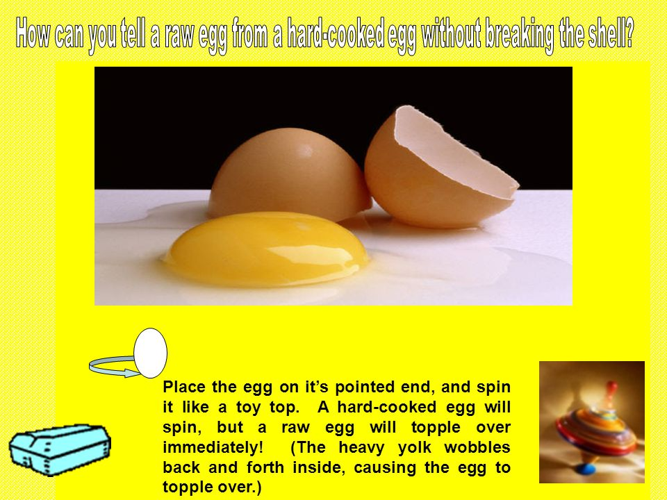 EGGS USED FOR HARD- COOKING MUST BE AT LEAST 3 DAYS OLD! In eggs fresher than 3 days old, the outer membrane adheres to the shell during the cooking p