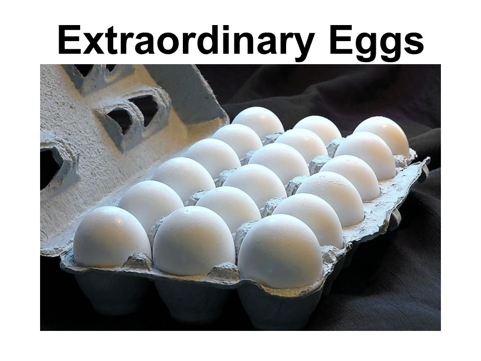 Candling Passing eggs over high intensity lights to grade freshness Eggs are examined for interior and exterior qualities Sorted by weight –AA-highest quality, buy when appearance is most important –A- high quality, good appearance for poaching and frying –B- good quality, use for general cooking or baking