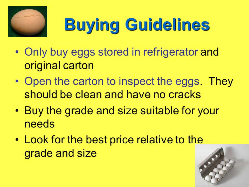 Cooking Eggs Eggs can be used as an emulsifier Cook at low temperature Cook until the desired firmness