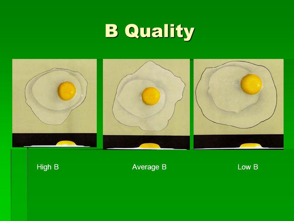 B Quality High BAverage BLow B