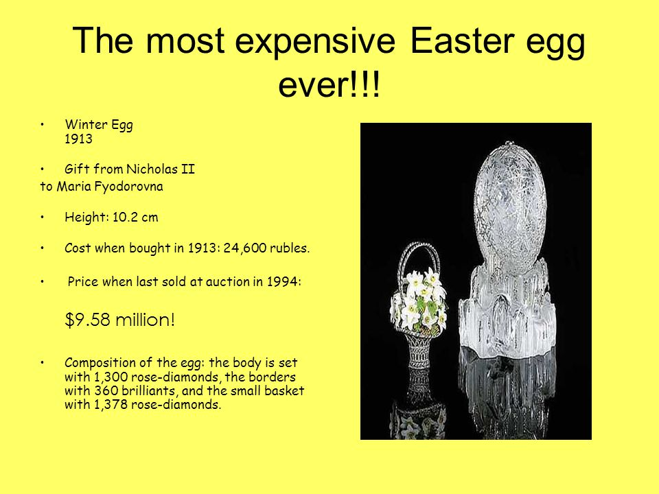 The most expensive Easter egg ever!!.