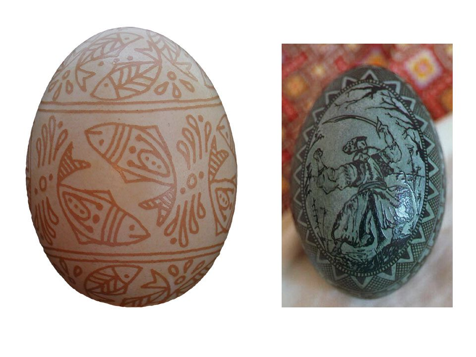 TRIVIA: These eggs were laser etched as part of a CBS promotion.