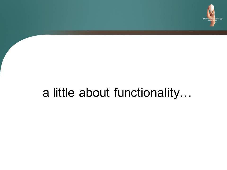 a little about functionality…