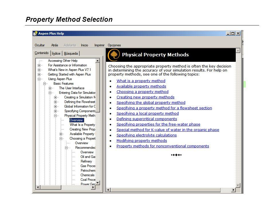 Property Method Selection