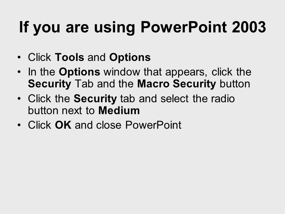 Stopping your presentation from advancing in PowerPoint 2002/3 To avoid your presentation from accidentally ending with a mouse click or moving on to the next slide, click on Slide Show/Slide Transition and remove the tick from the box next to Advance On Mouse Click Save your presentation.