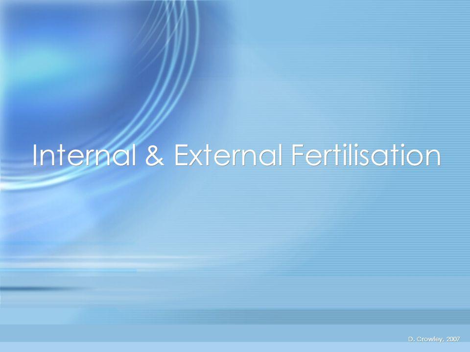Internal & External Fertilisation To know the difference between internal and external fertilisation Friday, June 13, 2014