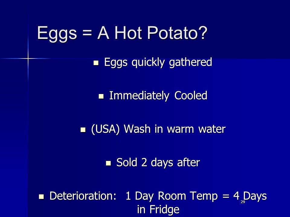 29 Eggs = A Hot Potato.