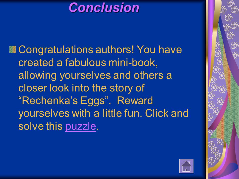 Conclusion Congratulations authors.
