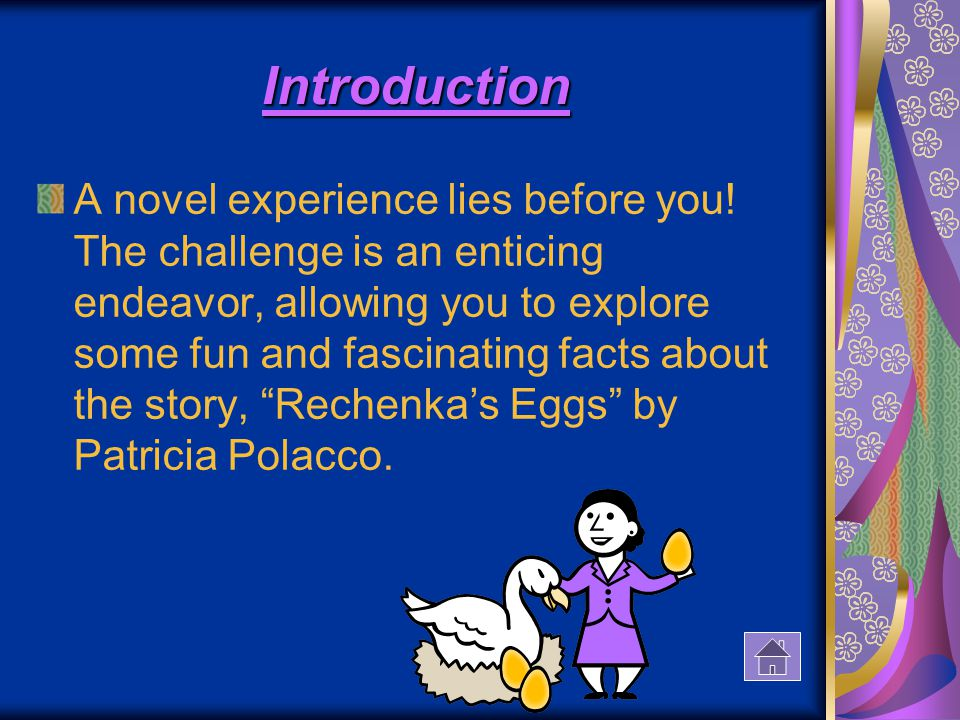 Introduction A novel experience lies before you.