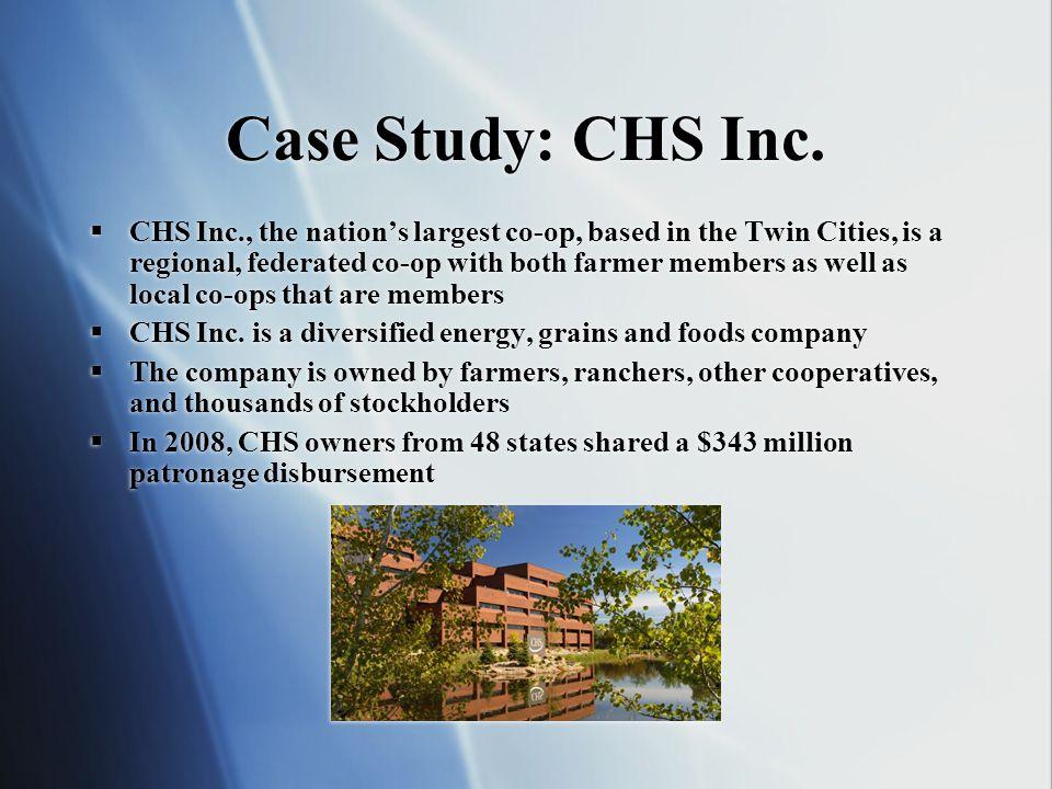 Case Study: CHS Inc.