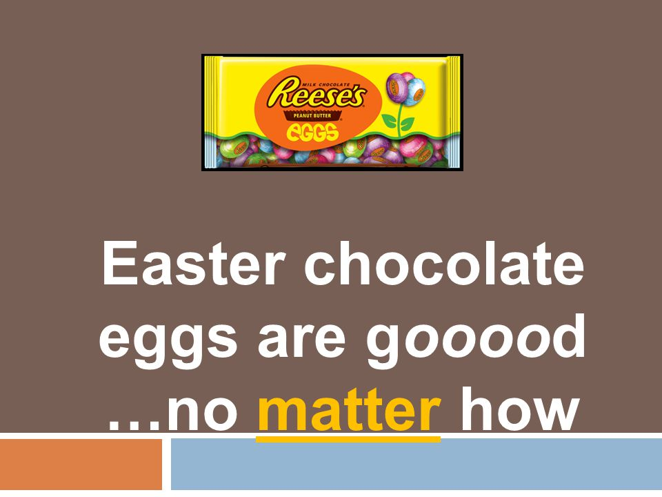 We conduct ed 3 trials and measur ed the mass before and after melting the Easter eggs. Results