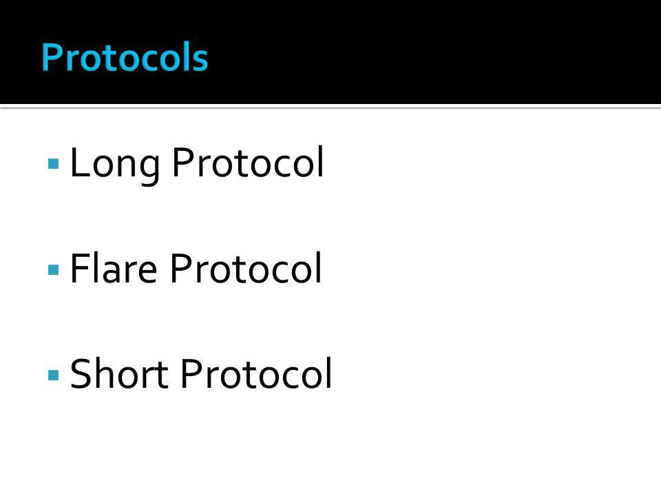 Long Protocol Flare Protocol Short Protocol