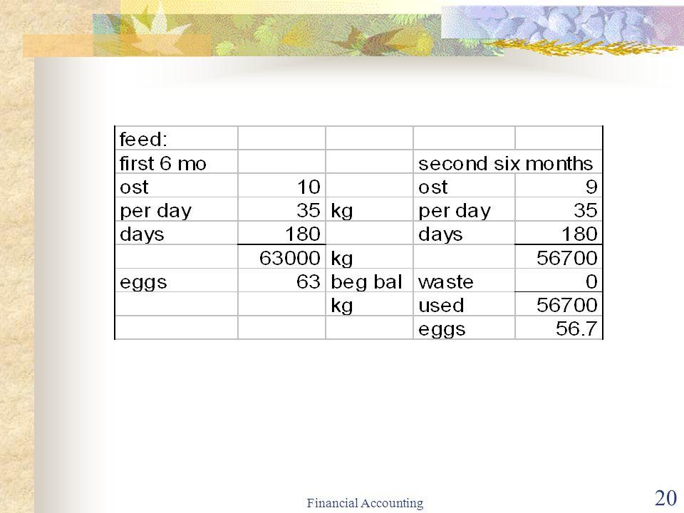 Financial Accounting 20