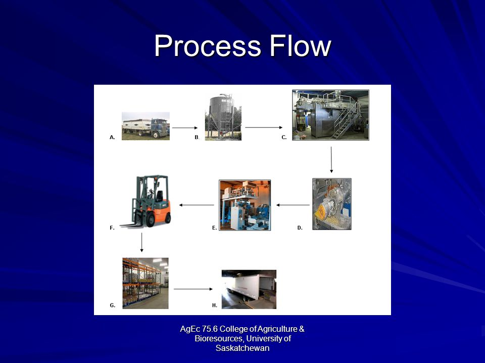 AgEc 75.6 College of Agriculture & Bioresources, University of Saskatchewan Process Flow