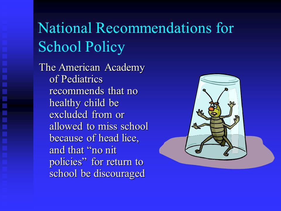 The Facts on Head Lice The Center for Disease Control published a study in May of 2001 which showed that only 9 of 50 children with nits alone (18%) c