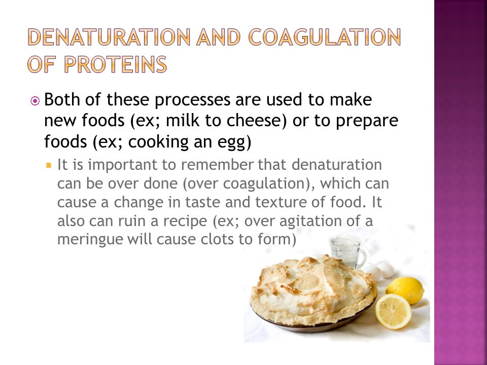 Both of these processes are used to make new foods (ex; milk to cheese) or to prepare foods (ex; cooking an egg) It is important to remember that dena