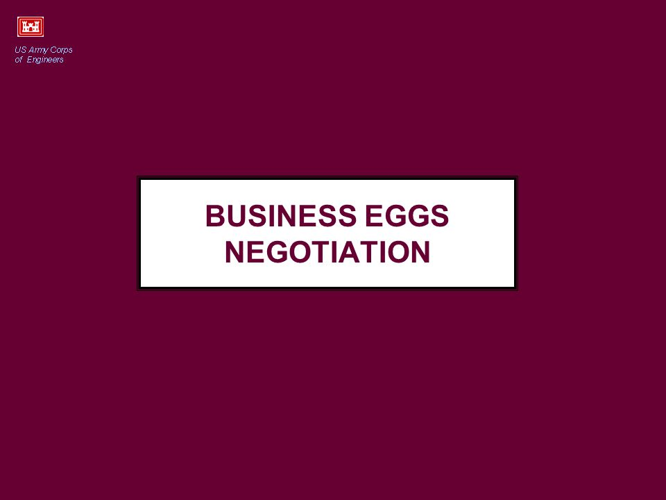 BUSINESS EGGS NEGOTIATION
