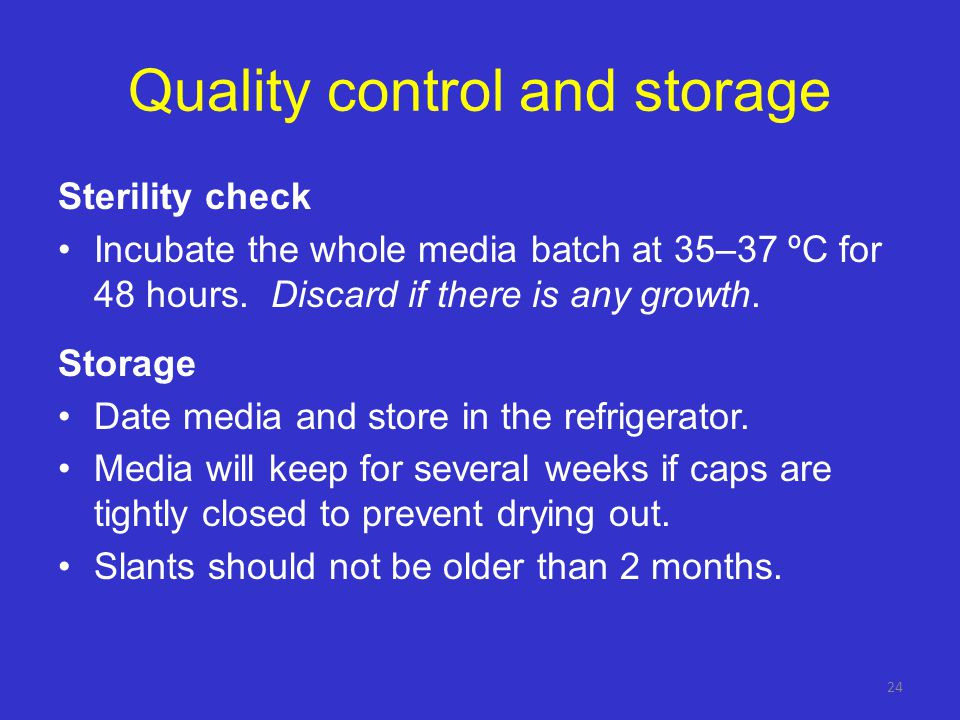 Pay attention! Quality of egg-based media deteriorates when coagulation is done at too high a temperature or for too long. Discolouration of coagulate