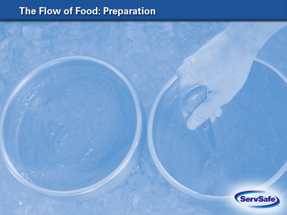 The Four Acceptable Methods for Thawing Food 8-2 In a refrigerator, at 41 F (5 C) or lower Submerged under running potable water, at a temperature of 70 F (21 C) or lower In a microwave oven, if the food will be cooked immediately after thawing As part of the cooking process