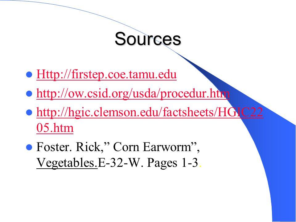 Sources Http://firstep.coe.tamu.edu http://ow.csid.org/usda/procedur.htm http://hgic.clemson.edu/factsheets/HGIC22 05.htm http://hgic.clemson.edu/factsheets/HGIC22 05.htm Foster.