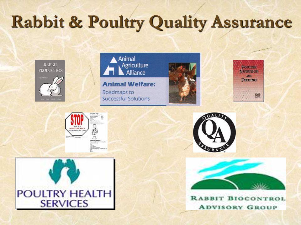 Rabbit & Poultry Quality Assurance